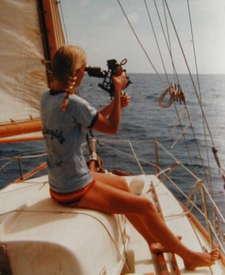 At sea with sextant